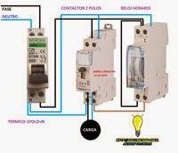 Esquemas eléctricos: Como conectar un contactor con un reloj horario
