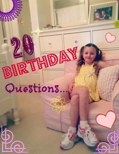 20 Questions to ask your kids on their birthday every year - a fun tradition!!