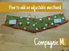 tutorial: how to add an adjustable waistband