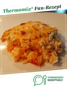 Reis-Auflauf von Sille Ein Thermomix ® Rezept aus der Kategorie Hauptgeric… Rice casserole of Sille A Thermomix ® recipe from the main course with vegetables category www.de, the Thermomix® Community. Rice Casserole, Casserole Recipes, Healthy Chicken Recipes, Crockpot Recipes, Dinner Crockpot, Kids Meals, Easy Meals, Rice Recipes For Dinner, Macaroni And Cheese