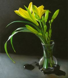 Daylilies 7x8, painting by artist M Collier