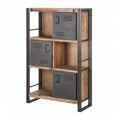 Best Of Cupboard Shelves Designs Cupboard Shelves, Storage Shelves, Locker Storage, Shelving Ideas, Metal Furniture, Industrial Furniture, Diy Furniture, Furniture Design, Industrial Office Design