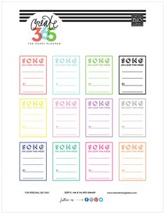 free printable 'SONG ON LOOP' design for Create 365™ The Happy Planner™ in a variety of colors | me & my BIG ideas