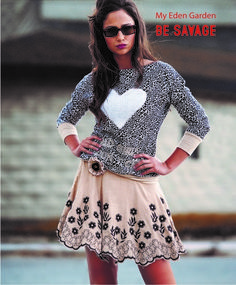 Savage Culture: Bad Girl Rhania Sweater, so comfy, so cute! Only on wildcurves.com!