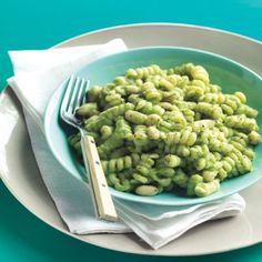 Pasta and White Beans with Broccoli Pesto
