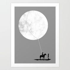 do you want the moon? Art Print by Sayahelmi   Society6