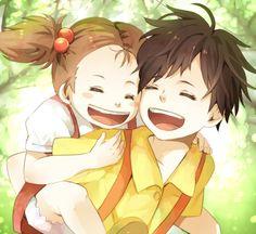 /My Neighbor Totoro/#1231140 - Zerochan | Hayao Miyazaki | Studio Ghibli / Kusakabe Satsuki and Kusakabe Mei