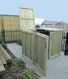Our wheelie bin storage shed is perfect for hiding unsightly rubbish bins! #garden #storage #design #timber #bins