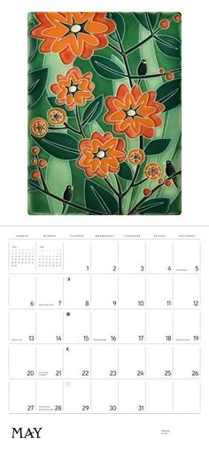 This calendar showcases a selection of Motawi's classic ceramic tiles.