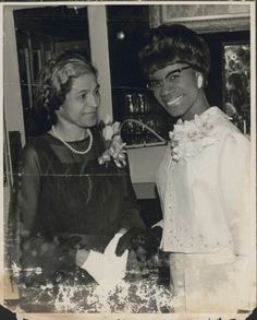A rare vintage photo of Rosa Parks with Congresswoman Shirley Chisholm in1968
