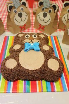 The teddy bear cake