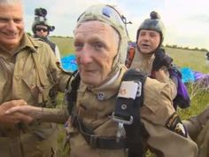 WWII Veteran Jim Martin, 93, commemorates D-Day by parachuting again (70th anniversary)