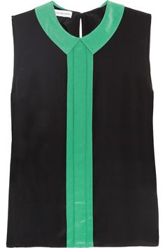 Jonathan SaundersElgar crepe de chine top from NET-A-PORTER.COM. #lifeinstyle #greenwithenvy