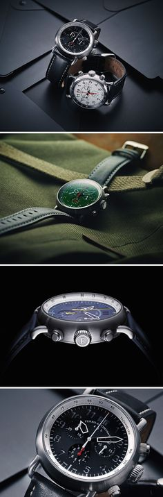 Taking inspiration from classic airplanes of the 40s, the Ferro AGL watch's aesthetic is a melange between classic and modern.  The AGL watches are available in Quartz and Automatic movement variants. While the quartz packs in the tachymeter and even a date display, the automatic has inside it the widely popular Swiss ETA 2824-2, and showcases a more contemporary style.