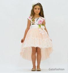 Платье для девочки от 6 до 10 лет +ободок GFL-16366P