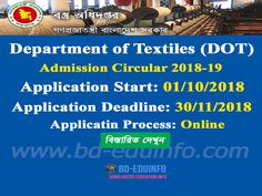 Department of Textiles (DOT) BSc in Textile Engineering Admission Circular Job Circular, Engineering, Dots, Textiles, How To Plan, Education, Stitches, Fabrics, Onderwijs