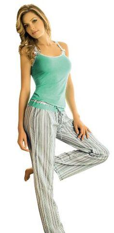 Adriana Arango 2 Piece Women's Striped Pajama « Clothing Impulse