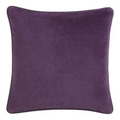 """Bennet Amethyst 18"""" sq. Pillow from Crate & Barrel. On sale! $19.95. Perfect for my turquoise sofa! :D"""