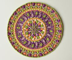 ***Dandelion Mandala Overlay Crochet Pattern***  ***This listing is for the crochet pattern only! Finished mandala is not included!*** I love