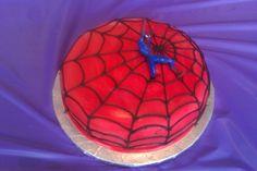 Spiderman Cake by Beth www.birthdaycakes4free.com #cake