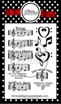 Music Notes Stamp Set