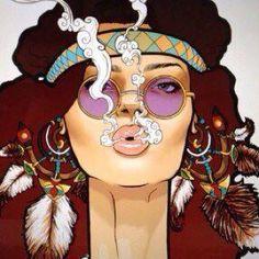 Hippie Blows Smoke