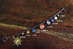 Solar System Bracelet Gem Stone by NevermoreBecomes on Etsy https://www.etsy.com/listing/476001203/solar-system-bracelet-gem-stone
