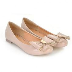 $17.98 Korean Style Sweet Women's Spring Flat Shoes With Patent Leather Bow and Candy Color Design