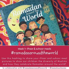 To start our Ramadan homeschooling week with my kids we are focusing on fasting itself! What it means when we can eat and even what we may eat. We love how this varies across the world  so This week we plan to make our iftaar plates for our neighbours and hoping you may do the same. Use the hashtag #ramadanaroundtheworld and tag us in your pics so we can show our children the amazing variety of food Muslims prepare for themselves and others and most importantly encouraging them in feeding…