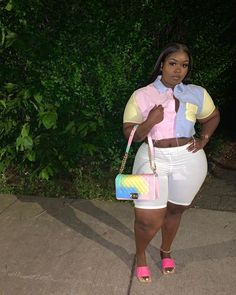 Swag Outfits For Girls, Curvy Girl Outfits, Cute Swag Outfits, Dope Outfits, Trendy Outfits, Thick Girl Fashion, Curvy Women Fashion, Plus Size Fashion, Plus Size Birthday Outfits