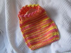 Easy Stay-On Bib: Can't wait to knit this for someone special!