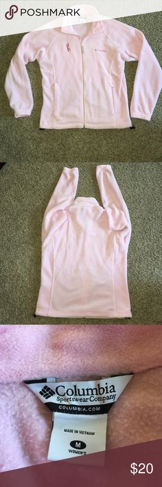 Columbia Fleece Jacket Breast cancer awareness jacket, great condition Columbia Jackets & Coats