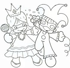 Visit the post for more. Carnival Crafts, Carnival Games, Preschool Coloring Pages, Colouring Pages, Theme Carnaval, Crafts For Kids, Arts And Crafts, Printable Coloring Sheets, Lessons For Kids