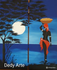 African Artwork, African Art Paintings, Afrique Art, Art Painting Gallery, Black Artwork, Afro Art, Black Women Art, Mosaic Art, Female Art