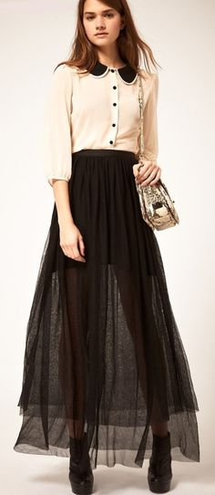 d6942fddc324 198 Best Trendy Casual Maxi Skirt Outfit Ideas for Girls images ...