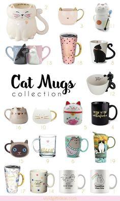 19 Cat Mugs - Cute Cat Mug Collection For Cat Lovers - Cute cat mugs for the crazy cat ladies! Crazy Cat Lady, Crazy Cats, Tiny Cats, Cats And Kittens, Cats Meowing, Grumpy Cats, Funny Kittens, Fat Cats, Pretty Mugs