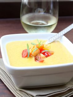 Coconut  Corn Chilled Soup!  Low-Calorie Recipes: The Best Chilled Soups for Staying Slim - Shape Magazine