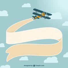 Vector Design Aviao Do Vintage Airplane BannerAirplane