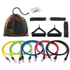 Early Buy Resistance Band Set with Door Anchor Ankle Straps Exercise Chart Foam handles Travel Pouch For Resistance Training Physical Therapy Home Fitness Exercise >>> Details can be found by clicking on the image. (This is an affiliate link) #ExerciseBands