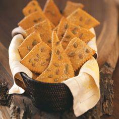 Pumpkin Seed Flat Breads Recipe from Taste of Home