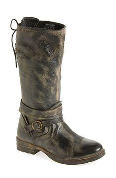 Bed Stu 'Paros' Leather Boot (Women) Black Barcelona/ Rust Cream Size 6 M on Vein - getVein.com