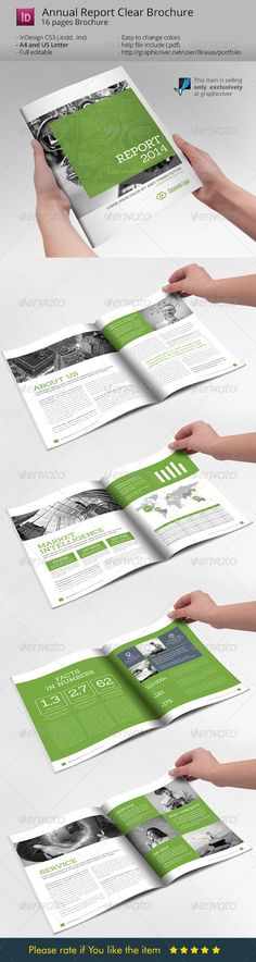 Annual Report Clean Indesign Brochure