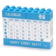 "Do you still use a paper calendar? Come on, do it yourself! Create your own desktop calendar with this unique puzzle calendar made up of ""Lego"" type building blocks. Adjust the date and day once a mon"