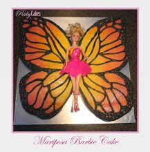 I would change the wing colour and purchase a barbie - Mariposa Barbie Cake Barbie Cake, Cake Decorating, Wings, Birthday Cake, Change, Colour, Cakes, Fun, Birthday Cakes