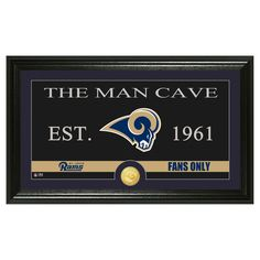 The Highland Mint NFL Man Cave Framed Wall Poster Print St. Louis Rams