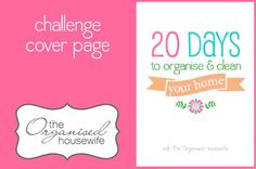 The Organised Housewife's '20 Days to Organise & Clean your Home' Challenge