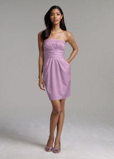 lavender bridesmaid dresses | Lavender Bridesmaid Dresses Short Strapless Cotton Sateen Dress By ...