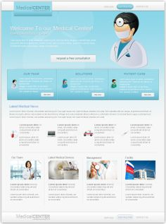 Medical/ Health Template - PSD Layout