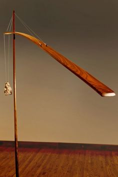 Unique and Stylish Wooden Led Floor Lamp in Crane Shape