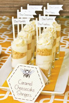 Bumble Bee Party with Caramel Cheesecake Stingers